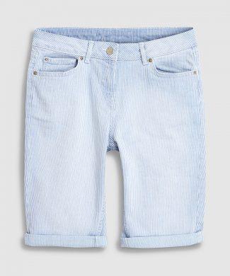 Bermude din denim cu model in dungi-jeansi-NEXT