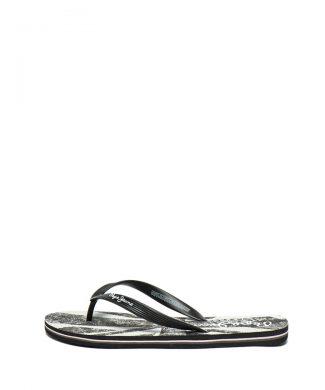 Papuci flip flop cu model si logo stantat-papuci-Pepe Jeans London
