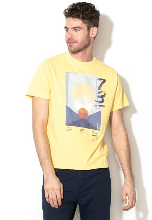 Tricou regular fit cu imprimeu grafic Corey-tricouri-Pepe Jeans London