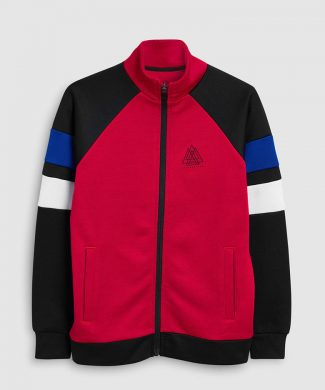 Bluza sport cu fermoar si model colorblock-bluze-NEXT