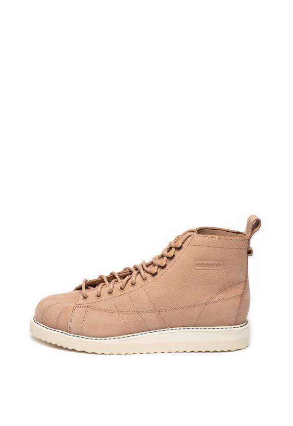 Pantofi sport mid-high de piele nabuc Superstar-tenisi-Adidas ORIGINALS