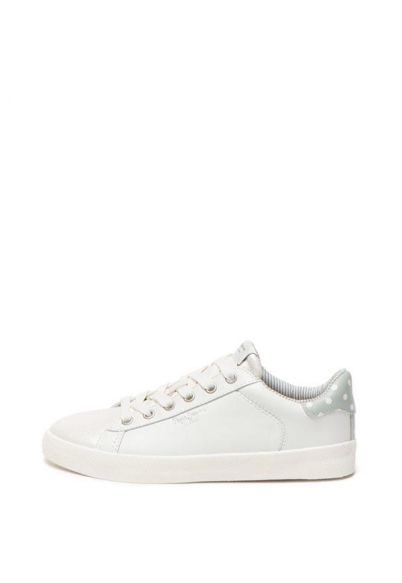 Pantofi sport cu varf lucios Kioto Dotty-tenisi-Pepe Jeans London