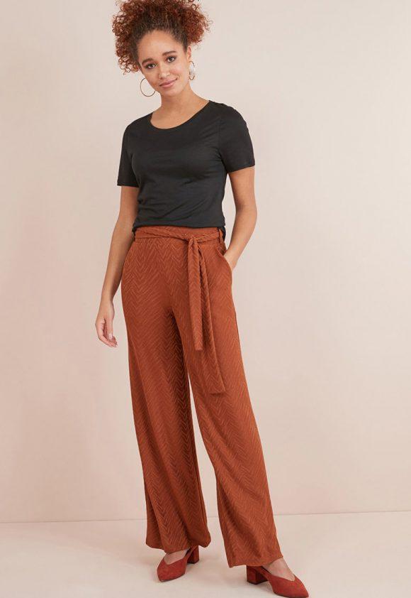 Pantaloni cu croiala dreapta si aspect texturat-pantaloni si colanti-NEXT