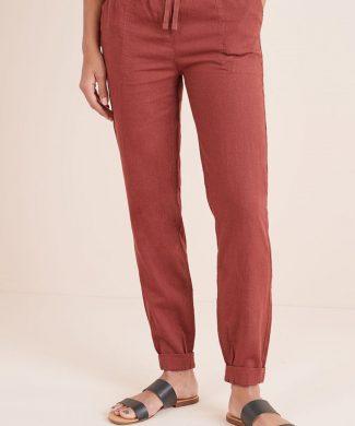 Pantaloni din amestec de in - cu croiala conica-pantaloni si colanti-NEXT