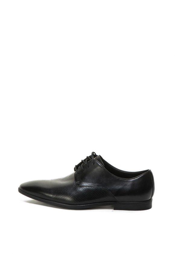 Pantofi de piele cu varf alungit Bampton-pantofi clasici-Clarks