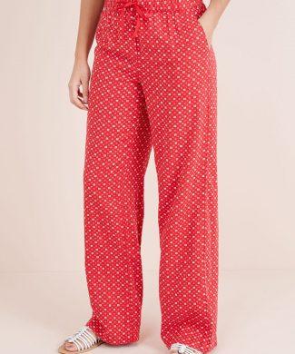 Pantaloni din amestec de in - cu croiala ampla-pantaloni si colanti-NEXT