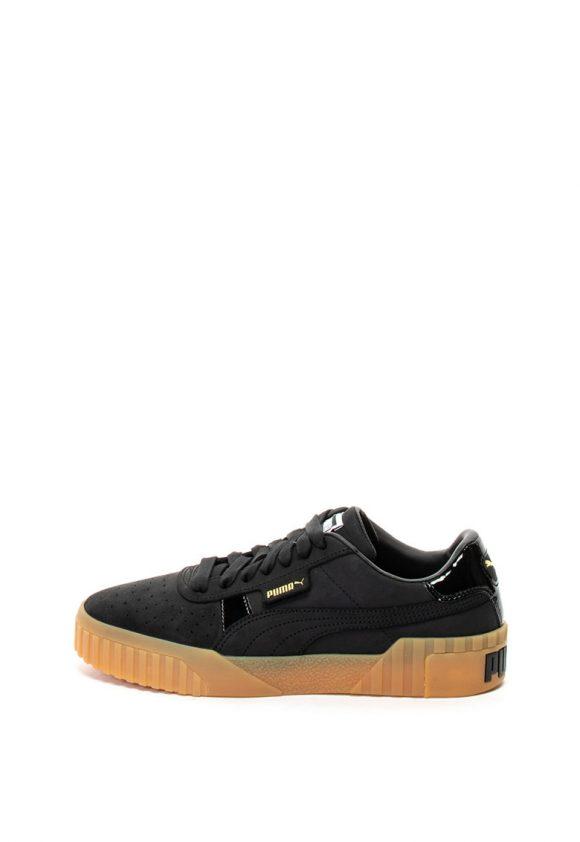 Pantofi sport de piele nabuc cu garnituri cu aspect lacuit Cali-tenisi-Puma