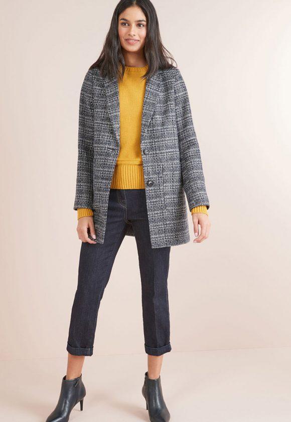 Sacou din amestec de lana-sacouri-NEXT