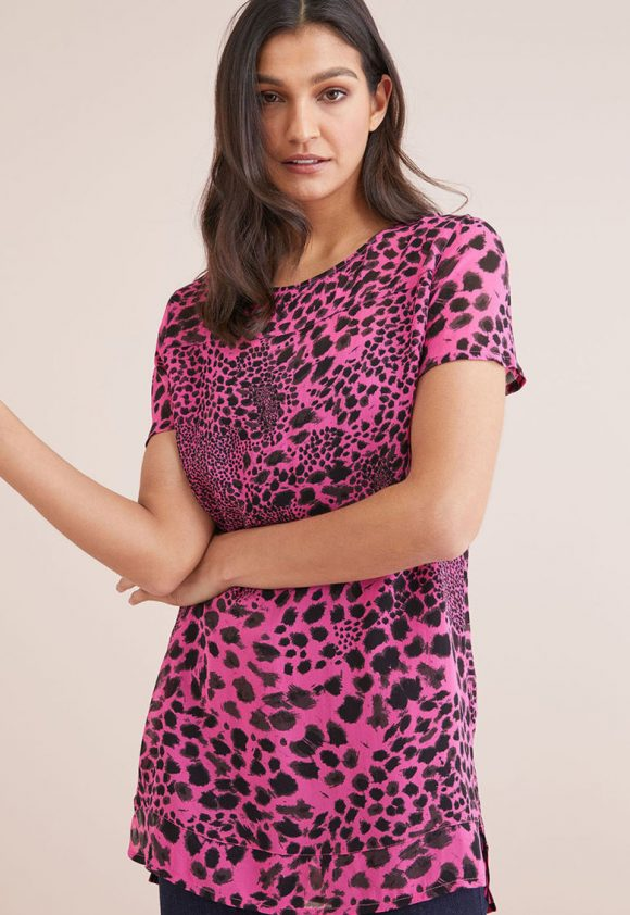 Bluza tip tunica cu animal print-bluze-NEXT