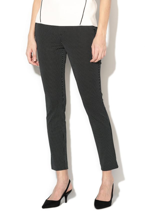 Pantaloni skinny cu talie medie si model cu buline-pantaloni si colanti-GAP