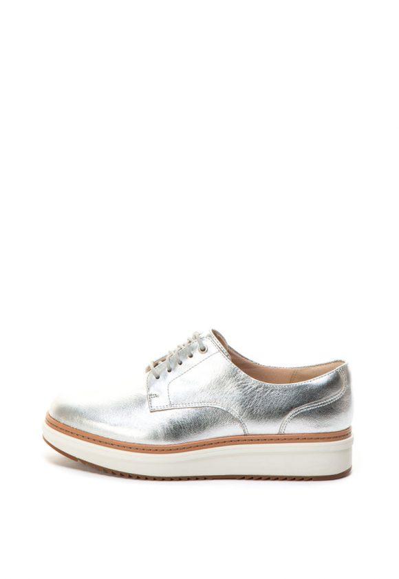 Pantofi flatform de piele cu aspect lucios Teadale Rhea-pantofi clasici-Clarks