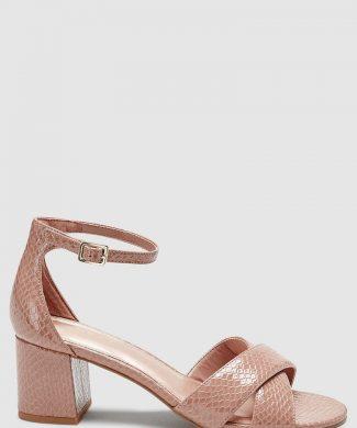 Sandale de piele ecologica - cu bareta pe glezna-sandale-NEXT