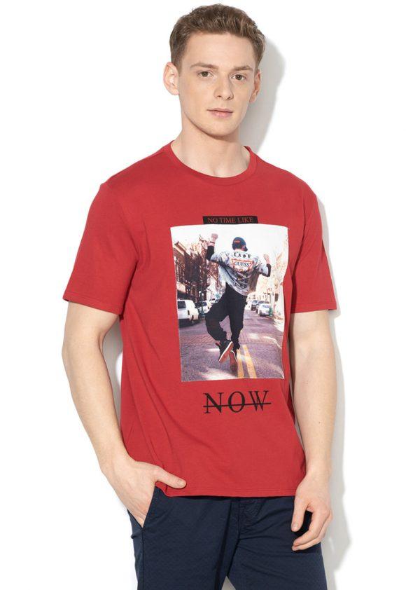 Tricou cu diverse imprimeuri-tricouri-GUESS JEANS