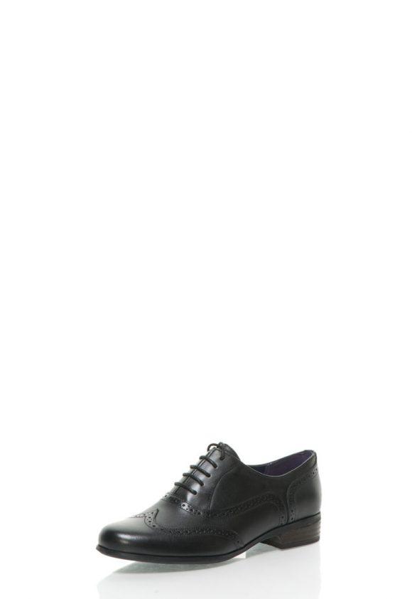 Pantofi brogue negri din piele Hamble Oak-pantofi clasici-Clarks