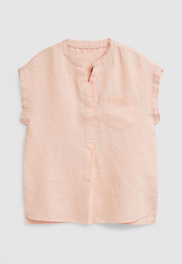 Bluza de in cu buzunar pe piept-bluze-NEXT