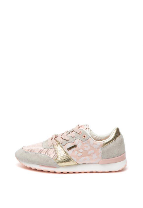 Pantofi sport cu garnituri de piele intoarsa Bimba-tenisi-Pepe Jeans London
