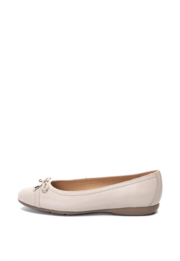 Pantofi cu talpa joasa de piele Annitah-Balerini-Geox