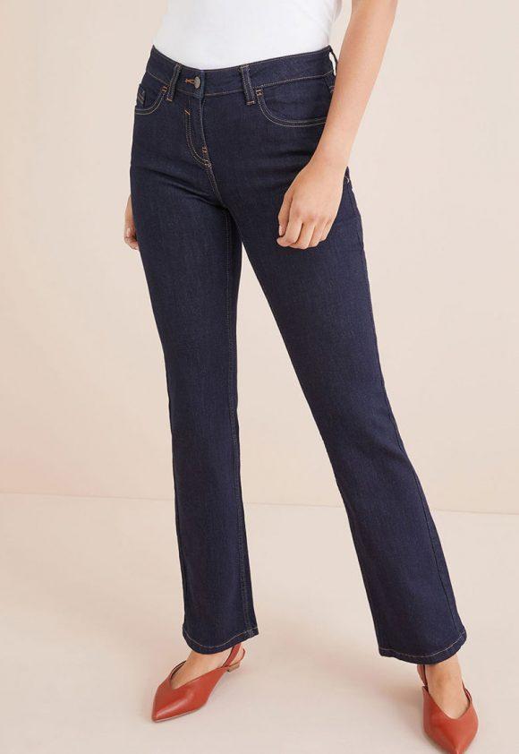 Blugi boot cut cu cusaturi contrastante-jeansi-NEXT