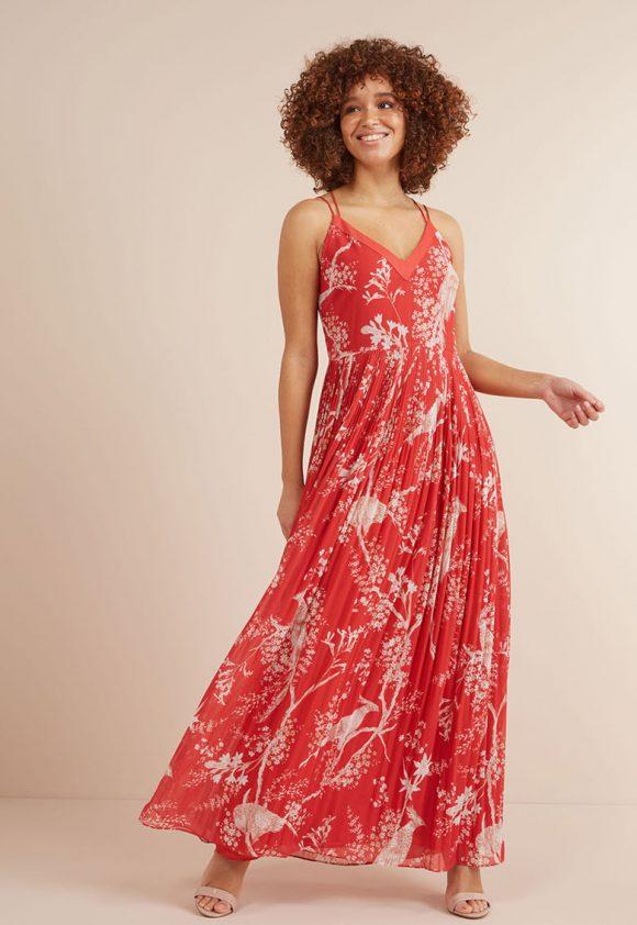 Rochie cu pliuri si bretele incrucisate-rochii-NEXT