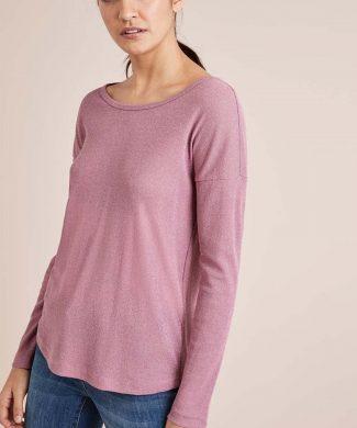 Bluza din tricot fin cu terminatie rotunjita-bluze-NEXT