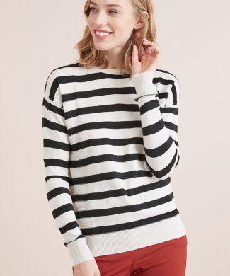 Pulover cu model in dungi-tricotaje-NEXT