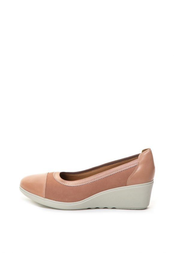 Pantofi wedge de piele Un Tallara Liz-pantofi clasici-Clarks