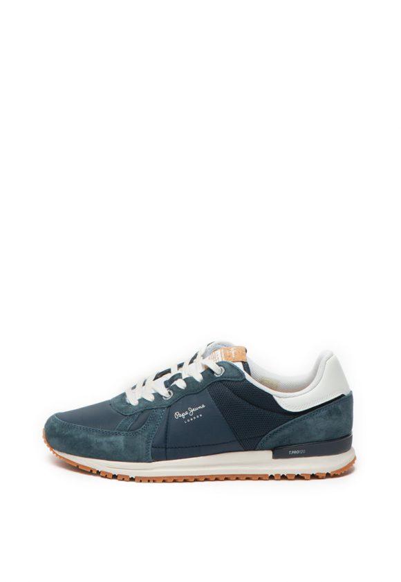 Pantofi sport cu garnituri de piele intoarsa Tinker Pro-tenisi-Pepe Jeans London