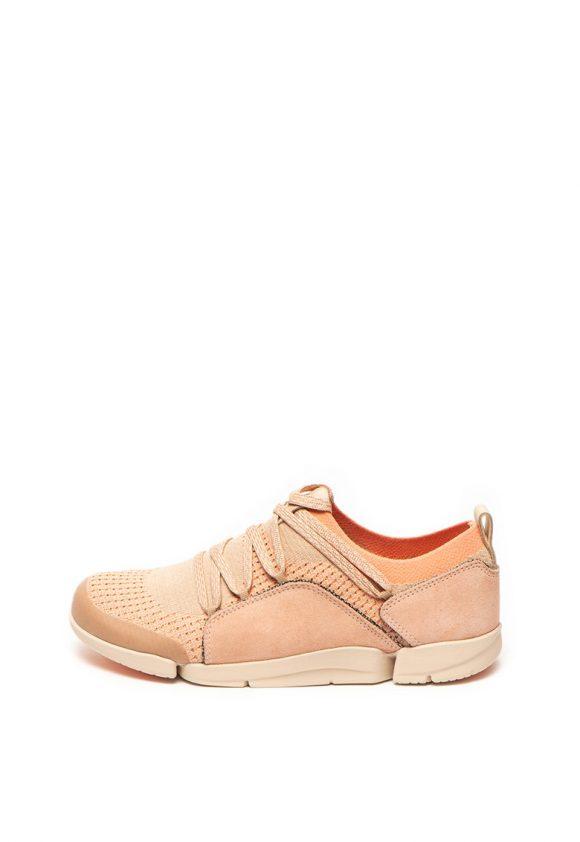 Pantofi sport slip on cu garnituri de piele intoarsa Tri Amelia-tenisi-Clarks