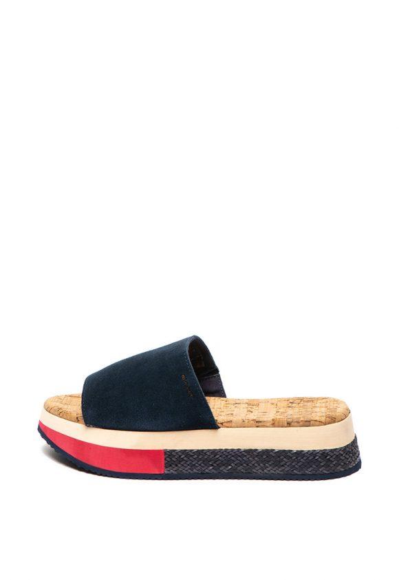 Papuci flatform de piele intoarsa Sant Ana-papuci-Gant