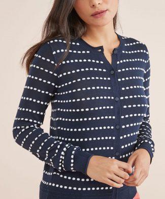 Cardigan cu model cu buline-tricotaje-NEXT