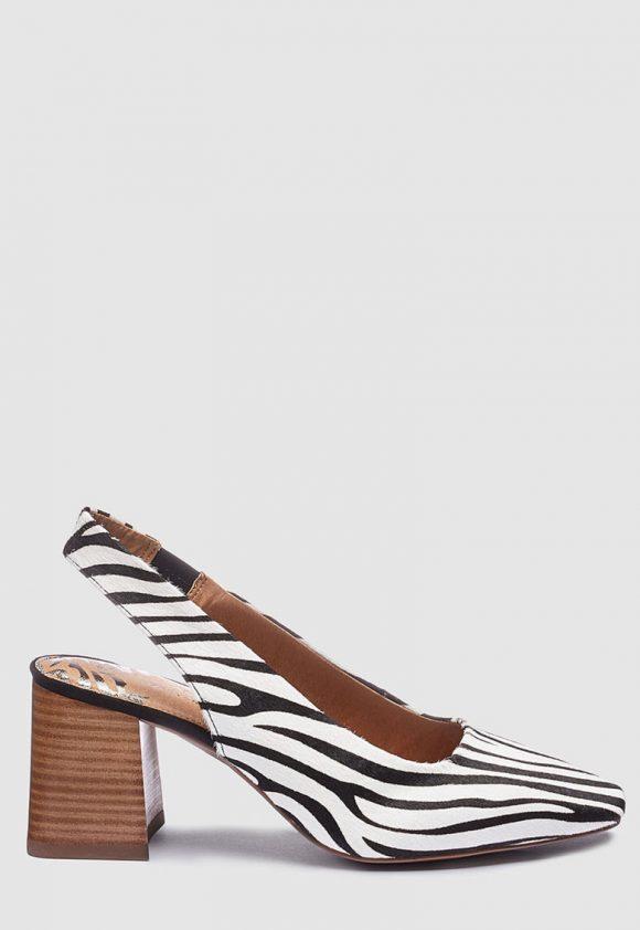 Pantofi slingback de piele cu animal print-pantofi clasici-NEXT