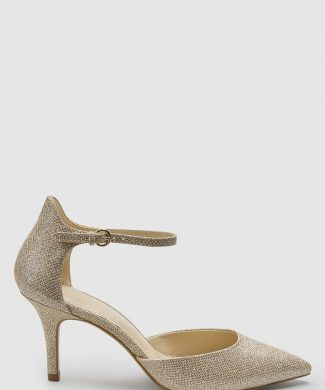 Pantofi cu varf ascutit si aspect lucios-pantofi clasici-NEXT