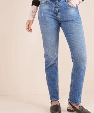 Blugi lungi pana la glezna cu talie inalta-jeansi-NEXT