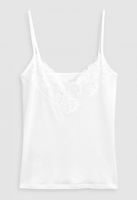 Top de lyocell cu insertii de dantela-tricouri-NEXT