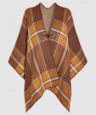 Poncho Tartan-tricotaje-NEXT
