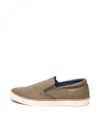 Pantofi slip-on cu garnitura de piele Bari-pantofi clasici-Gant