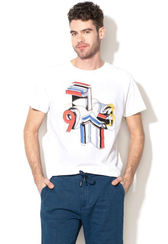 Tricou regular fit cu imprimeu grafic Jacob-tricouri-Pepe Jeans London