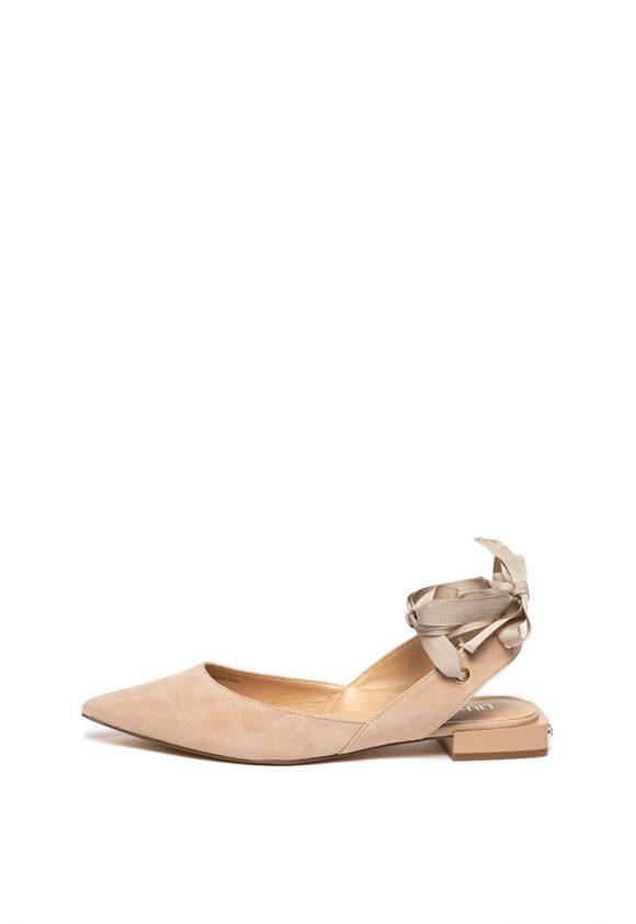 Pantofi slingback de piele intoarsa Viky-pantofi clasici-Liu Jo
