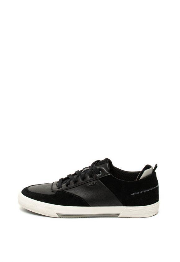 Pantofi sport cu insertii de piele intoarsa Kaven-tenisi-Geox