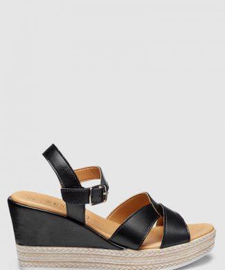 Sandale wedge de piele-sandale-NEXT