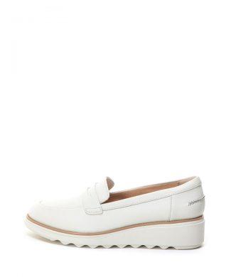 Pantofi loafer de piele - cu material usor Sharon Ranch-mocasini-Clarks