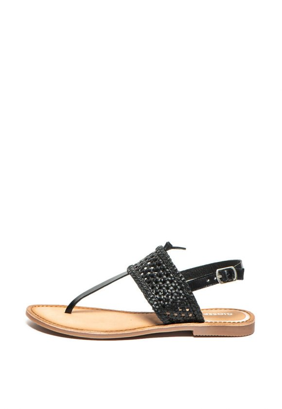 Sandale slingback de piele cu bareta separatoare Platea-sandale-Gioseppo