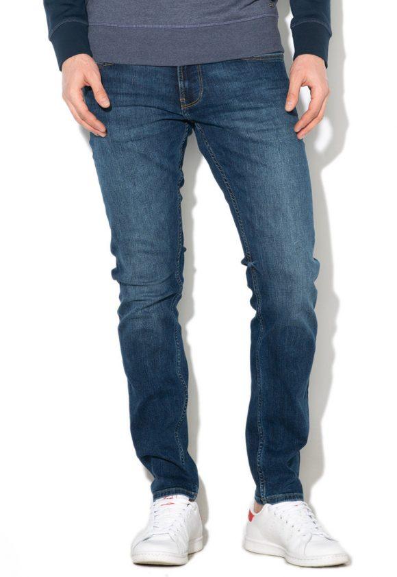 Blugi slim fit cu aspect decolorat-jeansi-EDC by Esprit