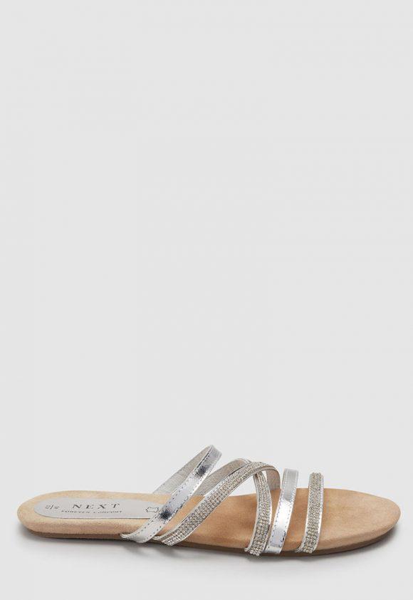 Papuci de piele cu strasuri-papuci-NEXT