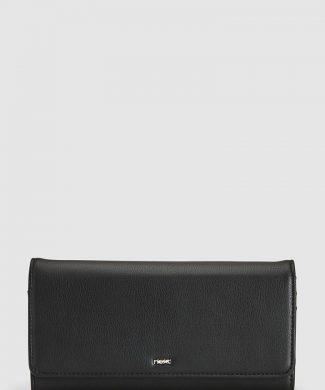 Portofel de piele ecologica cu aplicatie logo-portofele si brelocuri-NEXT