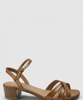 Sandale de piele cu toc masiv-sandale-NEXT