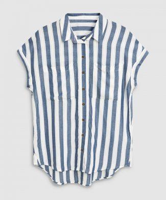 Camasa din amestec de modal - cu dungi-camasi-NEXT