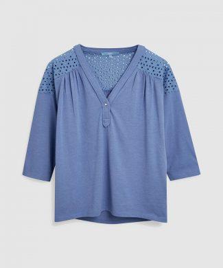 Bluza cu perforatii decorative-bluze-NEXT