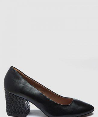 Pantofi de piele ecologica cu toc masiv-pantofi clasici-NEXT