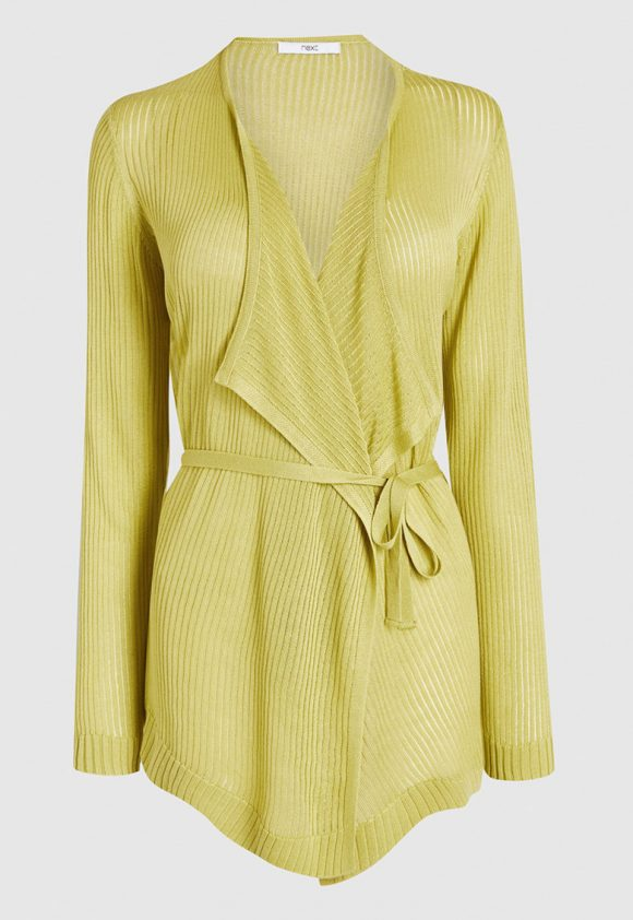 Cardigan cu striatii si cordon-tricotaje-NEXT